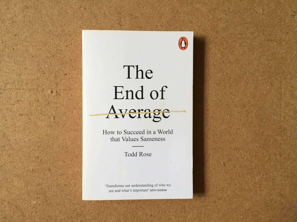 Photo of book The End of Average by Todd Rose.
